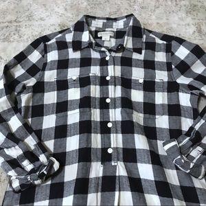 7b89387bc4c Peyton & Parker Gingham Flannel Shirt Tunic Dress